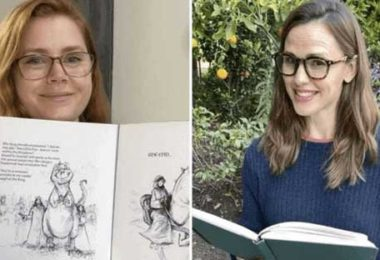 Bedtime novels with the voice of Hollywood stars in an initiative launched by Amy Adams and Jennifer Garner